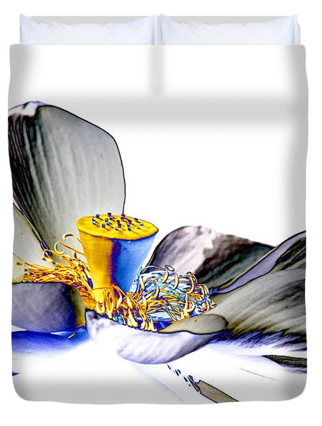 Solarized Lotus C Duvet Cover by Travis Burgess
