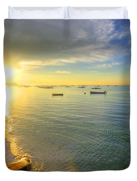 Some Days Stay Gold Forever Duvet Cover by Yhun Suarez