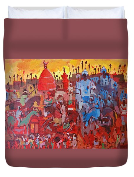 Some Of The History1 Duvet Cover by Mohamed Fadul