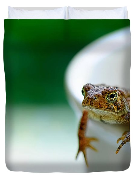 Somebody Needs Coffee Duvet Cover by Lois Bryan