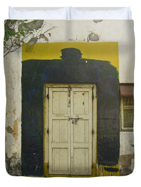 Duvet Cover featuring the photograph Somebody's Door by David Pantuso