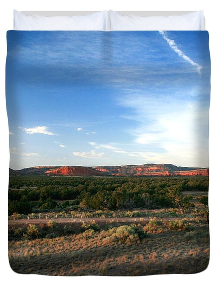 Duvet Cover featuring the photograph Somewhere Off The Interstate In New Mexico by Lon Casler Bixby