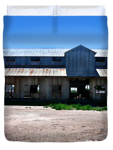 Duvet Cover featuring the photograph Somewhere On The Old Pecos Highway Number 6 by Lon Casler Bixby