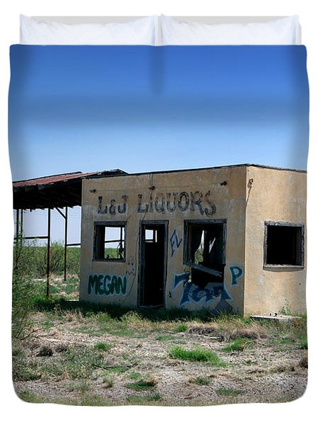 Duvet Cover featuring the photograph Somewhere On The Old Pecos Highway Number 7 by Lon Casler Bixby