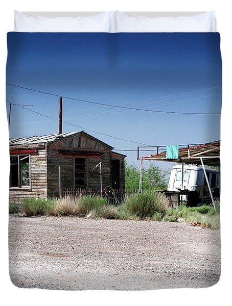 Duvet Cover featuring the photograph Somewhere On The Old Pecos Highway Number 8 by Lon Casler Bixby