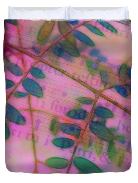 Song Of The Honey Locust Duvet Cover by Judi Bagwell