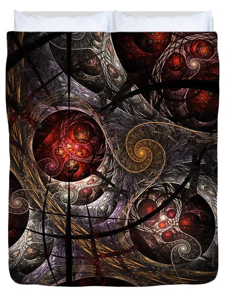 Duvet Cover featuring the digital art Soul Of Osiris by NirvanaBlues
