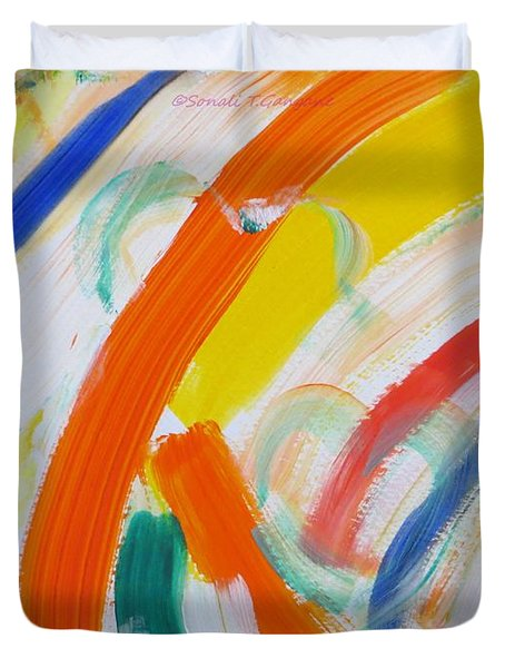 Duvet Cover featuring the painting Souls by Sonali Gangane
