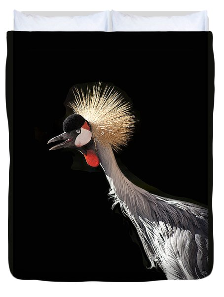 South African Grey Crowned Crane Kaanapali Maui Hawaii Duvet Cover by Sharon Mau