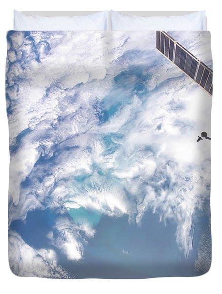 South Atlantic Plankton Bloom Duvet Cover by Stocktrek Images