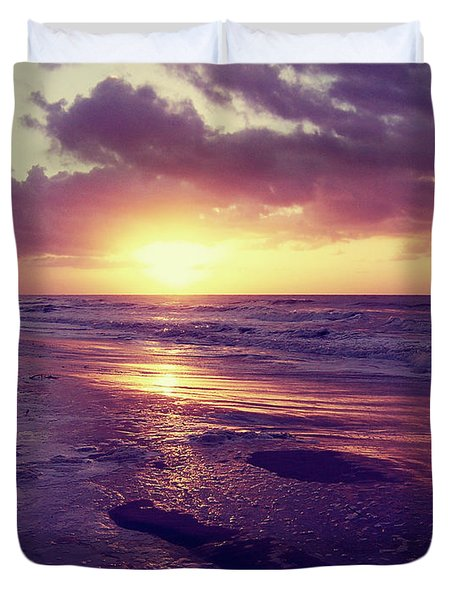 Duvet Cover featuring the photograph South Carolina Sunrise by Phil Perkins
