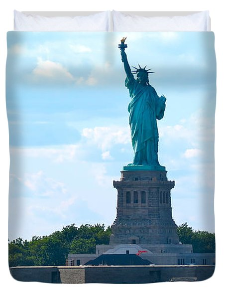 South Ferry Water Ride13 Duvet Cover by Terry Wallace