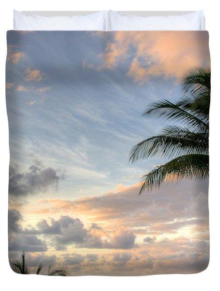 South Seas Sunset Duvet Cover by John  Greaves