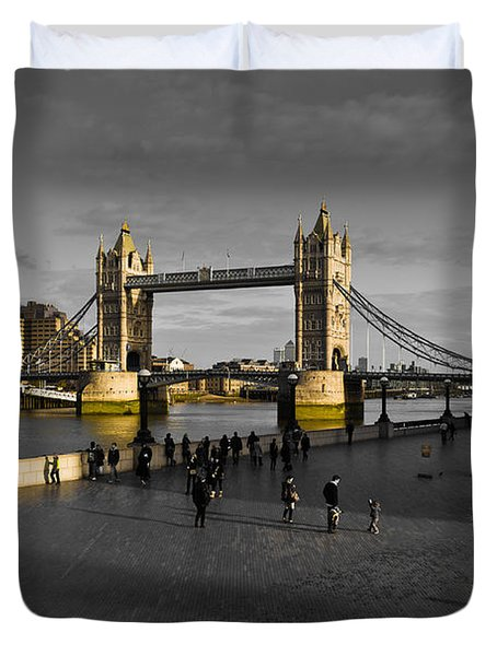 Southbank London  Duvet Cover by David Pyatt