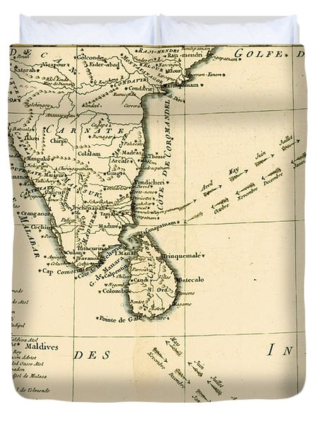 Southern India And Ceylon Duvet Cover by Guillaume Raynal