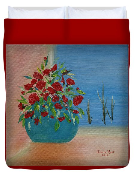 Duvet Cover featuring the painting Southwestern 1 by Judith Rhue