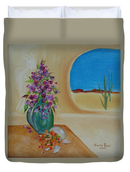 Duvet Cover featuring the painting Southwestern 3 by Judith Rhue