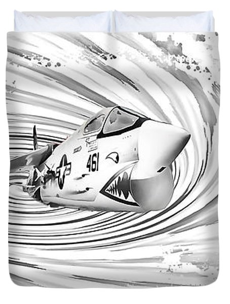 Spaceship Vertigo Duvet Cover