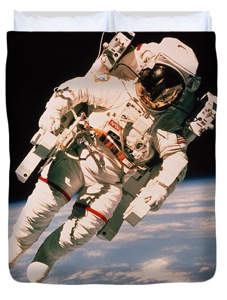 Spacewalk Duvet Cover by NASA / Science Source