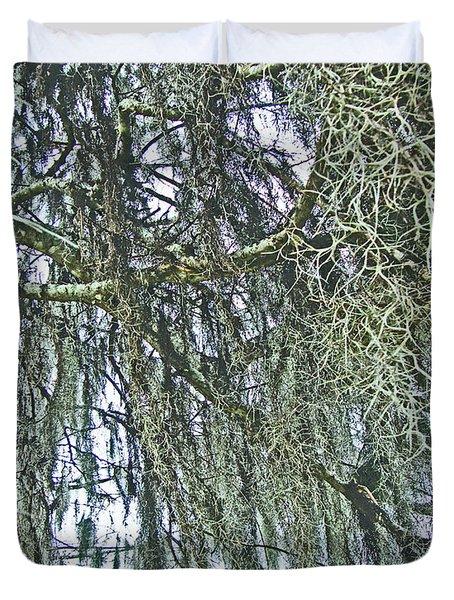 Duvet Cover featuring the photograph Spanish Moss by Lizi Beard-Ward