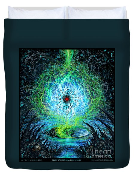 Spark Of Emotional Progress Duvet Cover