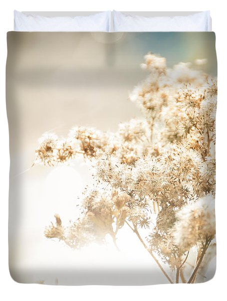Sparkly Weeds Duvet Cover by Cheryl Baxter