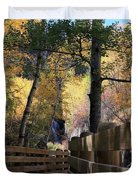 Spearfish Canyon Walkway Duvet Cover
