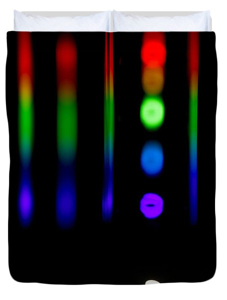 Spectra Of Energy Efficient Lights Duvet Cover by Ted Kinsman
