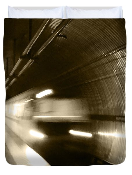 Speeding Train Duvet Cover