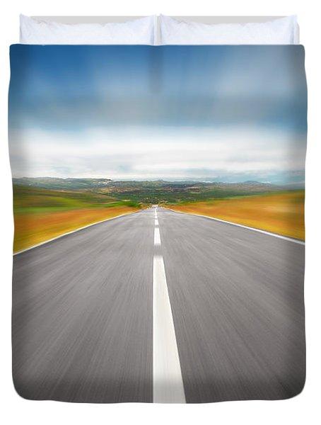 Speedyway Duvet Cover by Carlos Caetano