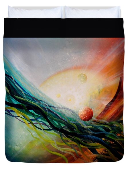 Sphere Gl2 Duvet Cover by Drazen Pavlovic