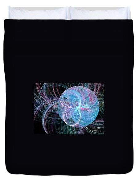 Duvet Cover featuring the digital art Spherical Symphony by Kim Sy Ok