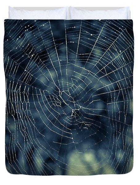 Duvet Cover featuring the photograph Spider Web by Matt Malloy