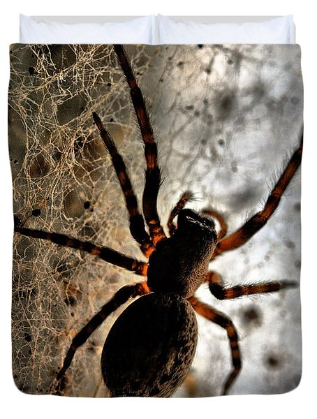 Duvet Cover featuring the photograph Spiders Home by Chriss Pagani