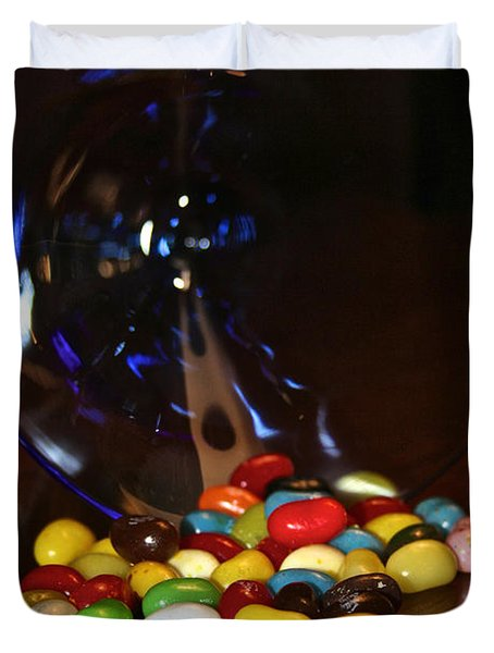 Spilled Beans Duvet Cover by Susan Herber
