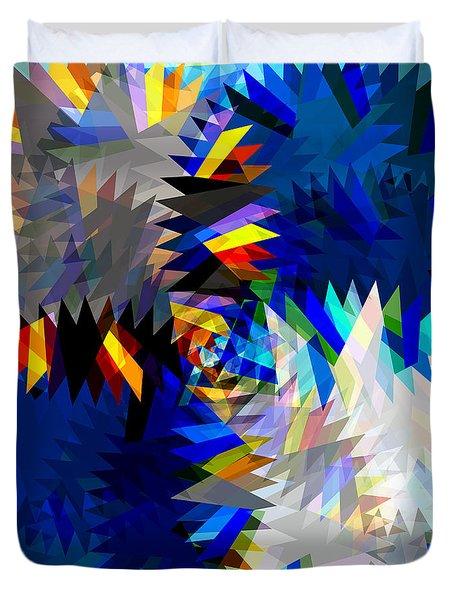 Spinning Saw Duvet Cover by Atiketta Sangasaeng