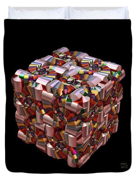 Spiral Box I Duvet Cover by Manny Lorenzo