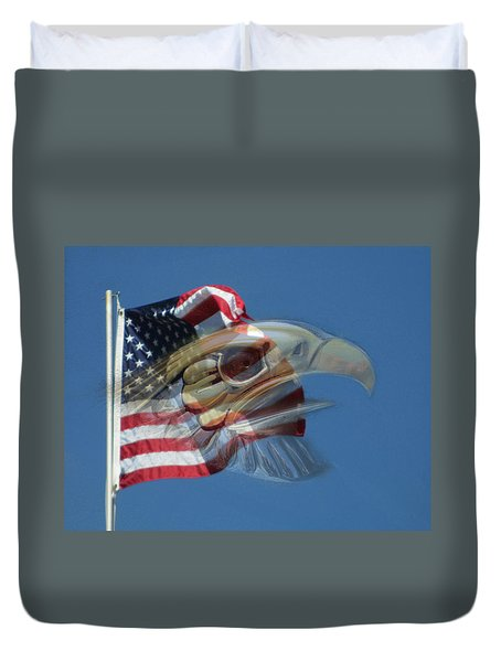 Spirit Of The Screaming Eagles Duvet Cover by Kevin Caudill