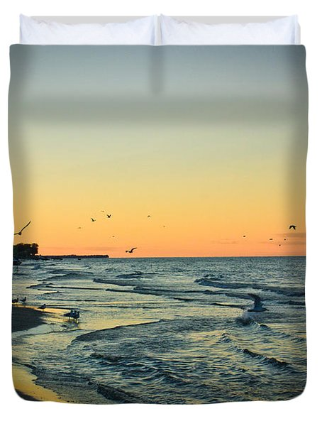 Duvet Cover featuring the photograph Spirit's Journey by Sara Frank