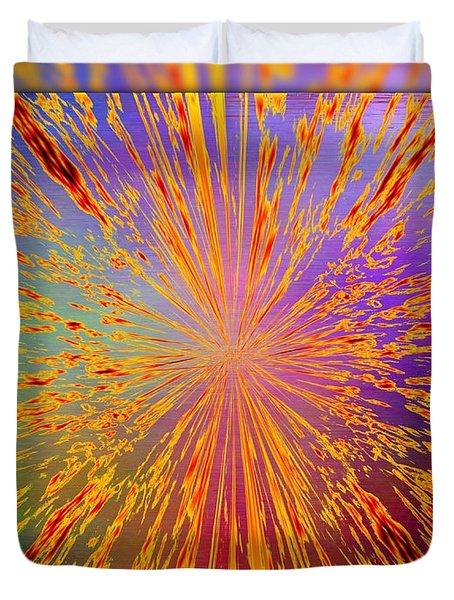 Splattered Duvet Cover by Tim Allen