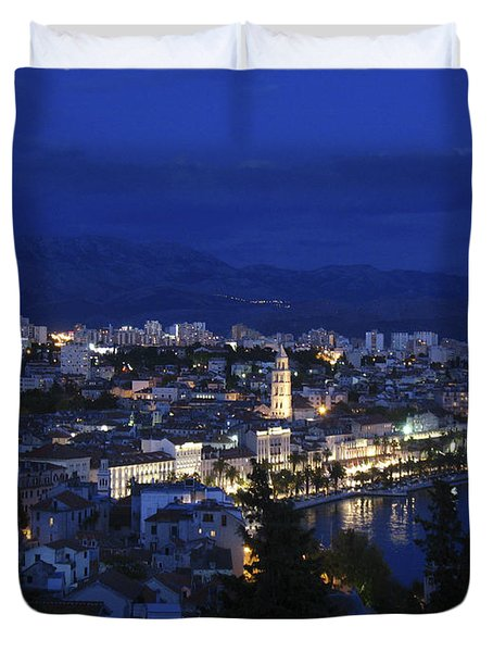 Duvet Cover featuring the photograph Split Croatia by David Gleeson
