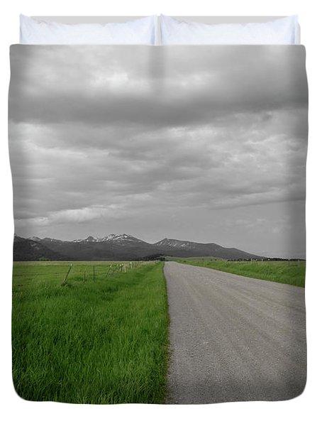 Split Line Duvet Cover by Roderick Bley