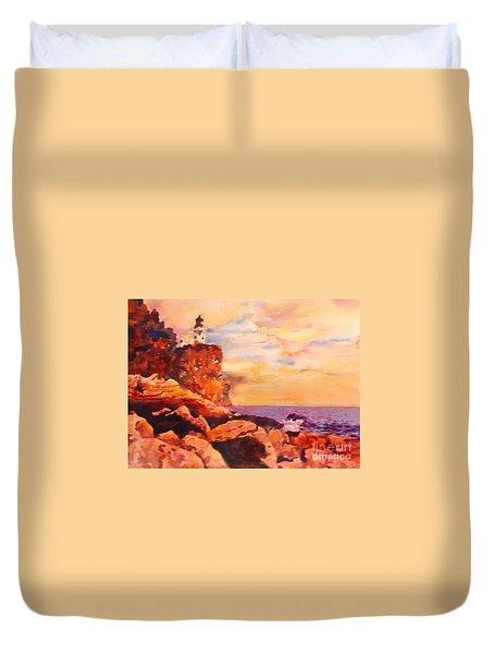 Split Rocks Golden Memories       Duvet Cover by Kathy Braud