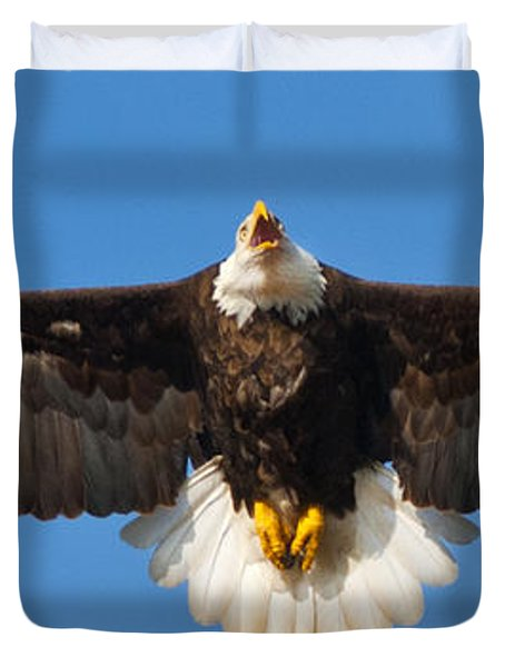Duvet Cover featuring the photograph Spread Eagle by Randall Branham