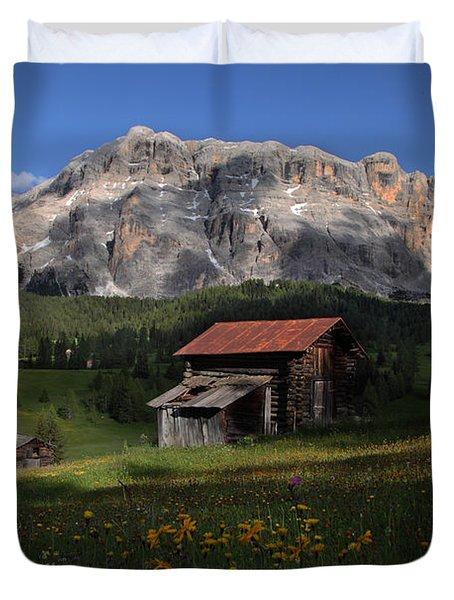 Duvet Cover featuring the photograph Spring At Santa Croce by Susan Rovira