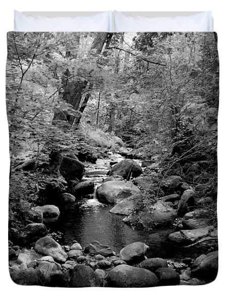 Duvet Cover featuring the photograph Spring Creek by Kathleen Grace