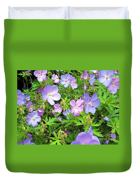 Duvet Cover featuring the photograph Spring Garden - Flowers by Susan Carella