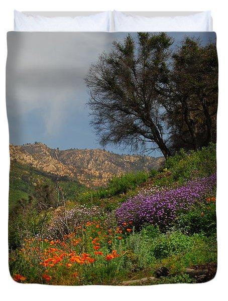 Duvet Cover featuring the photograph Spring In Santa Barbara by Lynn Bauer