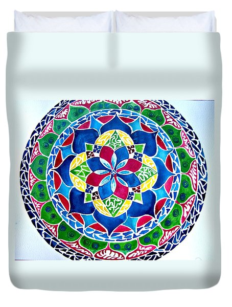 Spring Mandala Duvet Cover