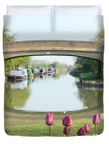Spring On The Oxford Canal Duvet Cover